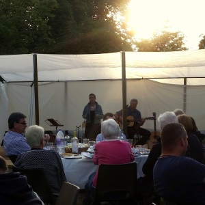 Jan Vaisey and Ian Harvey play at the Keevil Folk Festival 2015